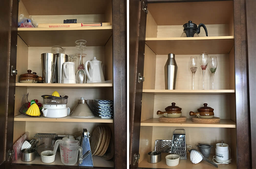 Cabinets Before and After Home Staging