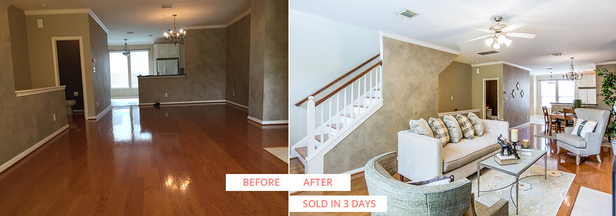 Van Buren Before and After Sold Reveal Home Staging